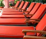 chairs orangen Royaltyfri Fotografi