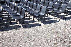 Chairs of an outdoor cinema royalty free stock image