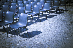 Chairs of an outdoor cinema Stock Photo