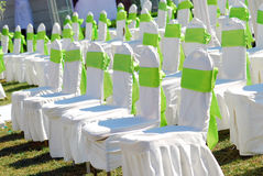 Chairs  at Outdoor Wedding Royalty Free Stock Photos
