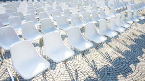 Chairs in outdoor Stock Photography