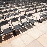 Chairs at outdoors concert hal Stock Images