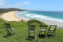 Chairs overlooking Congo Beach Australia Royalty Free Stock Images