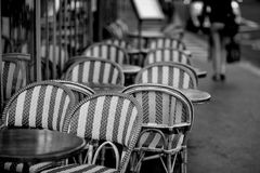 Chairs on Paris terrace Royalty Free Stock Image