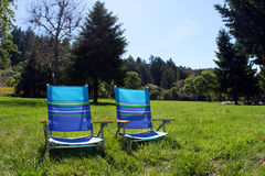 Chairs in the park Stock Photos