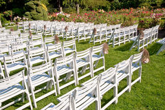 Chairs in a park Stock Images