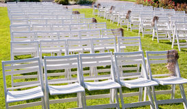 Chairs in a park Royalty Free Stock Image