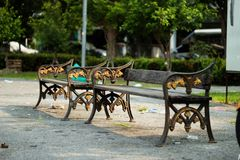 Chairs in the Park. royalty free stock photo