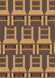 Chairs pattern Royalty Free Stock Photo