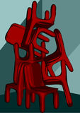 Chairs pile Stock Image
