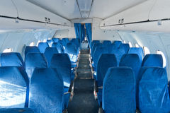 Chairs in the plane Stock Images