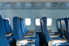 Chairs in the plane Stock Image
