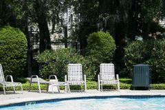 Chairs By The Pool Stock Photos