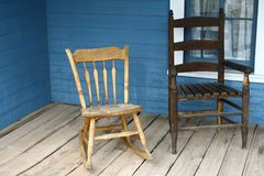 Chairs on a Porch Stock Photos