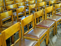 Chairs prepared Stock Photography