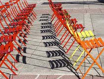 Chairs In Public Square Stock Images