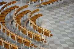 Chairs in a quarter cirecle Stock Image