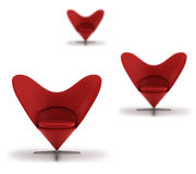 chairs rött stilfullt Royaltyfria Bilder