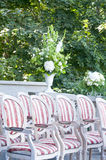 Chairs ready for wedding ceremony Royalty Free Stock Image