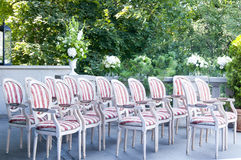 Chairs ready for wedding ceremony Royalty Free Stock Photography