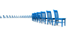 Chairs receding into distance Royalty Free Stock Photos