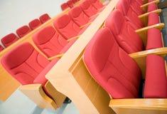 chairs red Royaltyfria Bilder