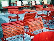 chairs red Royaltyfri Bild
