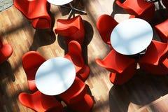 chairs red Στοκ Φωτογραφίες