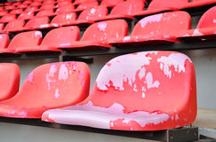 Chairs red of stadium Royalty Free Stock Photos
