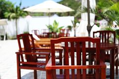 Chairs of the resort in Sanya Stock Photos