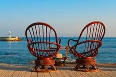 chairs rotting två Fotografering för Bildbyråer