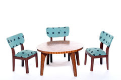 Chairs round a table Royalty Free Stock Photos
