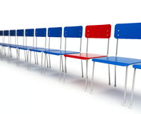 Chairs row. It is isolated on a white background Royalty Free Stock Image