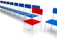 Chairs row Royalty Free Stock Images