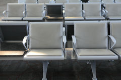 Chairs row in the airport Royalty Free Stock Photo