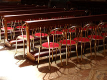 Church chairs Royalty Free Stock Image
