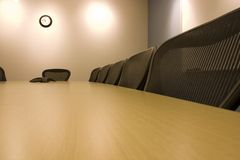 Chairs in a Row in the Conference Room Stock Photography