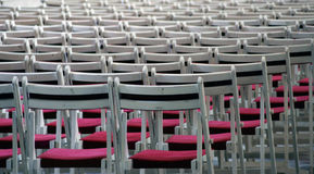 Chairs in a row Royalty Free Stock Image