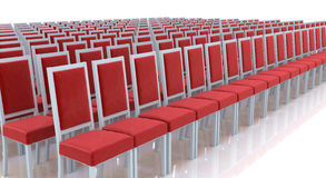 Chairs in a row Stock Photography