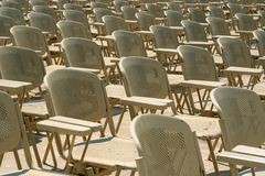 Chairs in a rows Stock Photos