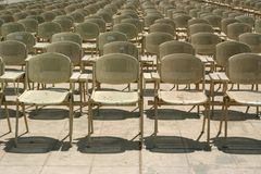 Chairs in a rows Royalty Free Stock Photos