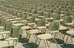 Chairs in a rows Royalty Free Stock Photo