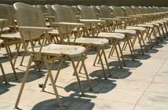 Chairs in a rows Royalty Free Stock Photography