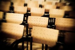 Chairs in rows stock photos