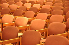 Chairs in rows. Comfortable chairs in orderly rows Stock Image