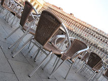 Chairs in Saint Marks Square Stock Photo