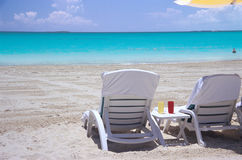 Chairs in the Sand Royalty Free Stock Photography
