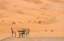 Chairs in sand dunes Stock Image