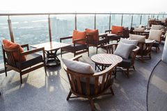 Chairs on the scenic view Stock Photography