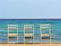 Chairs. sea. Stock Photo